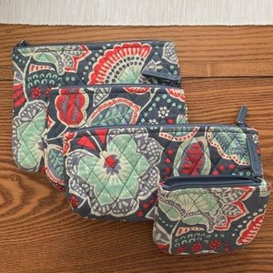 Vera Bradley Quilted Cosmetic Pouch Set
